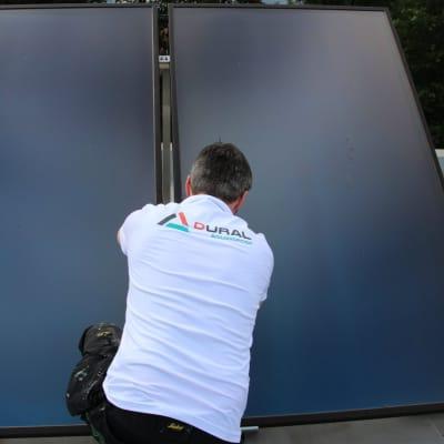 Zonneboiler installatie bij Dural Bouwgroep