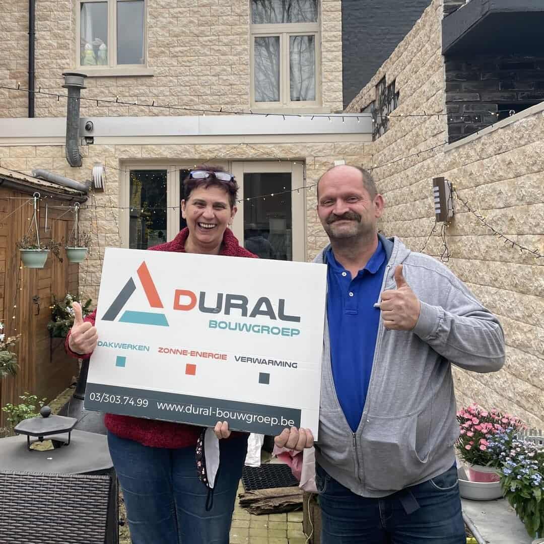 Tevreden klanten Dural Bouwgroep uit Wilrijk