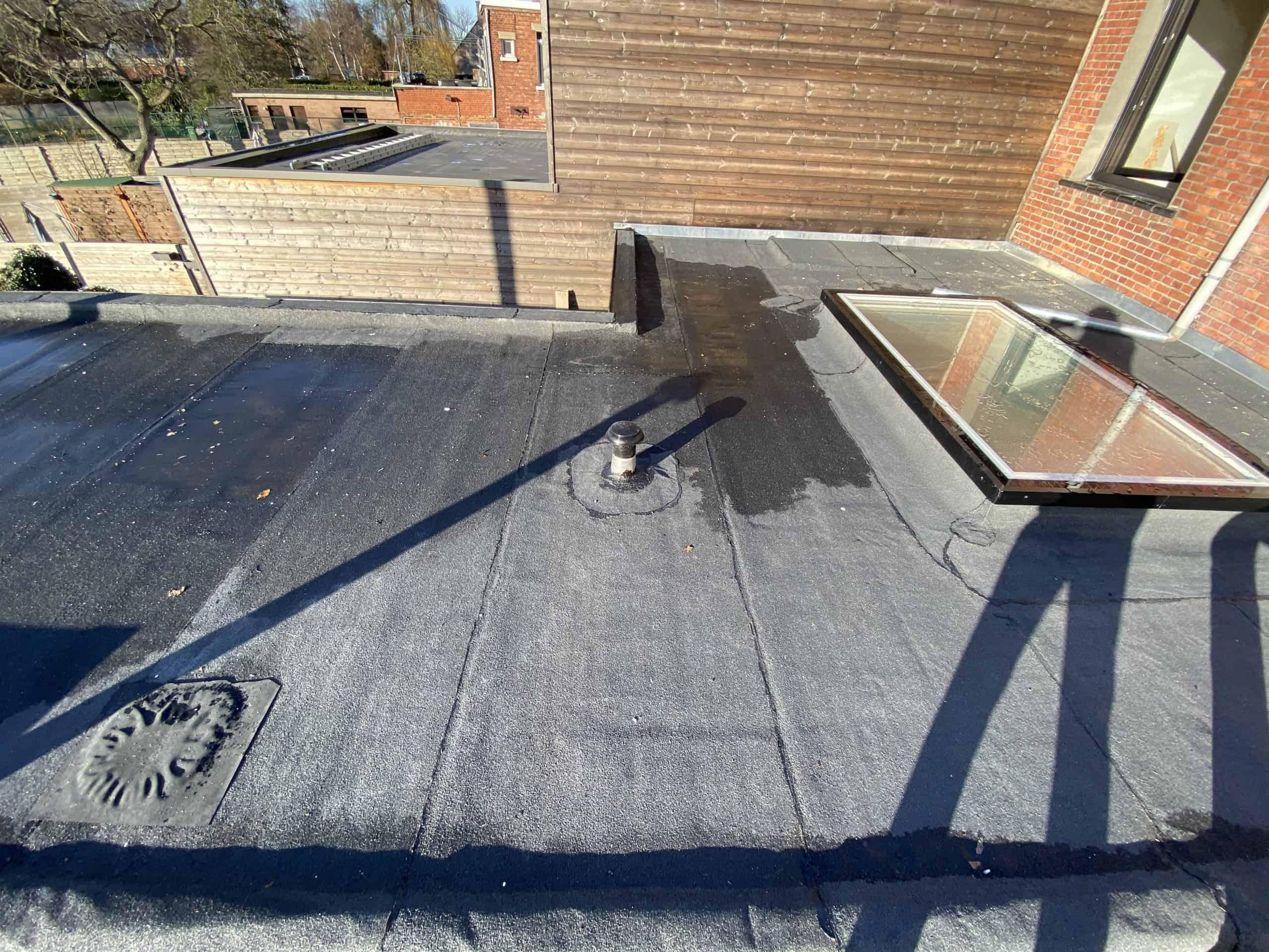 Vernieuwd plat dak in Ekeren