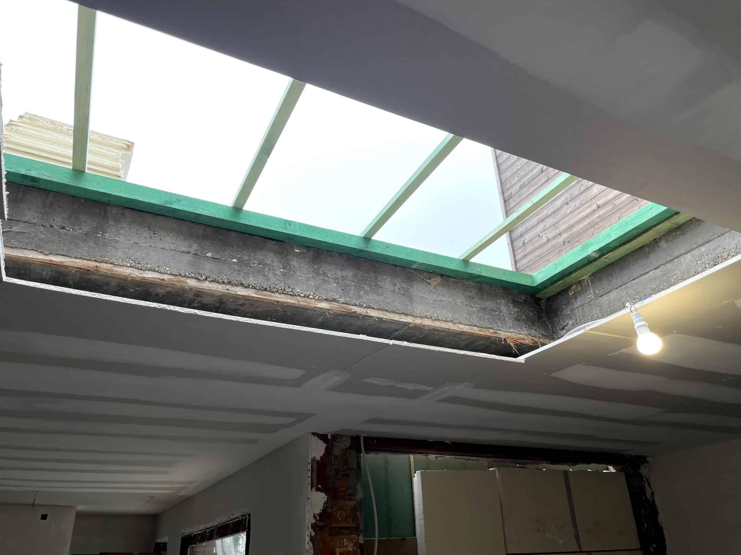 Tijdens renovatie plat dak in Ekeren