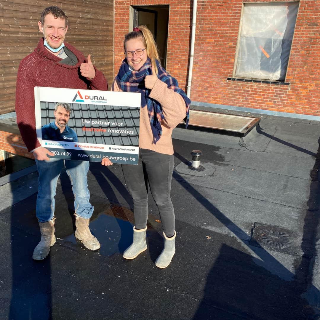 Tevreden klanten renovatie plat dak uit Ekeren