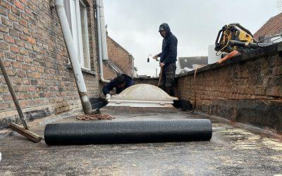 Renovatie plat dak in Niel