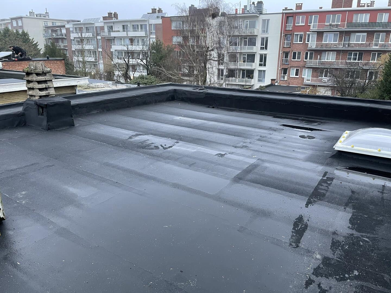 Vernieuwd plat dak in Wilrijk