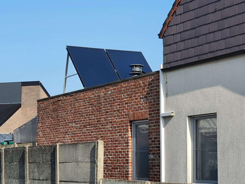 Plaatsing zonneboiler in Herenthout