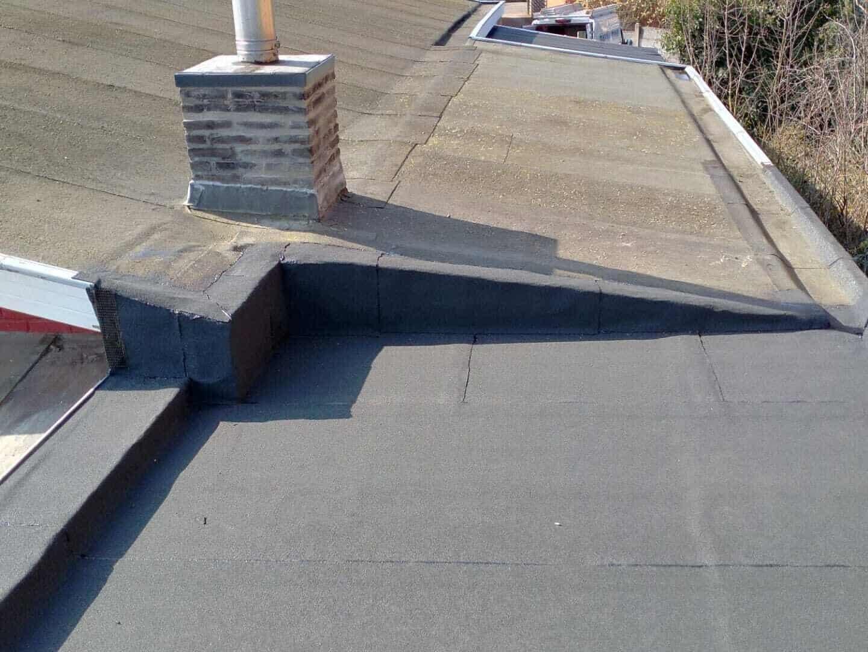Gerenoveerd plat dak in Bouwel