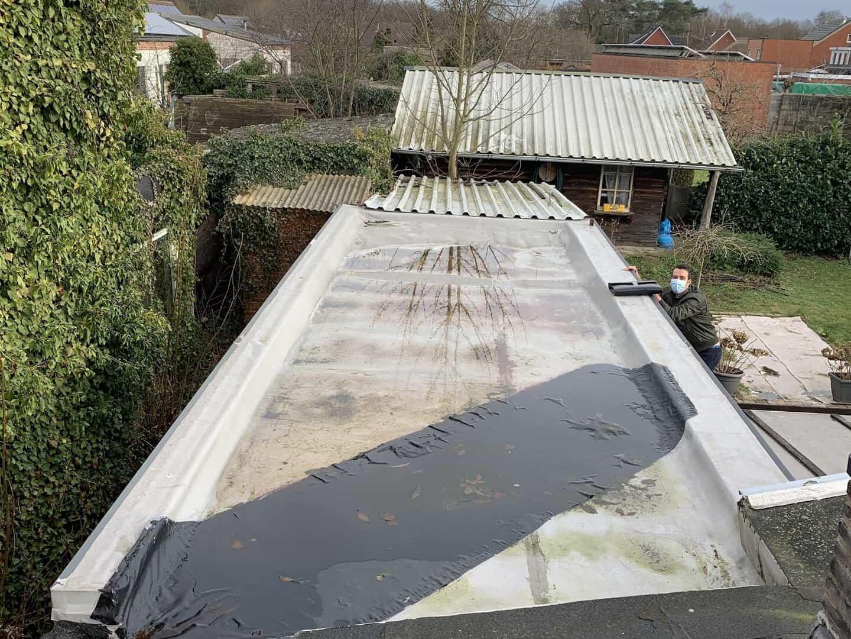 Te renoveren plat dak