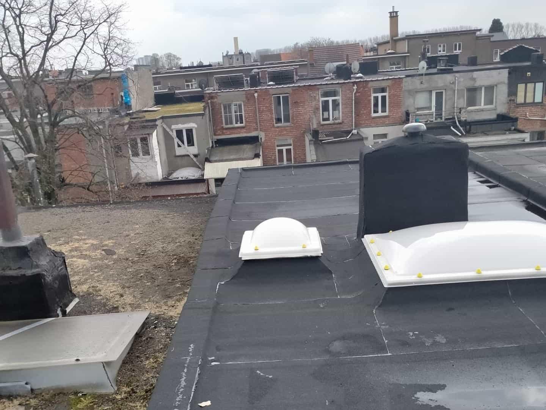 Gerenoveerd plat dak in Deurne