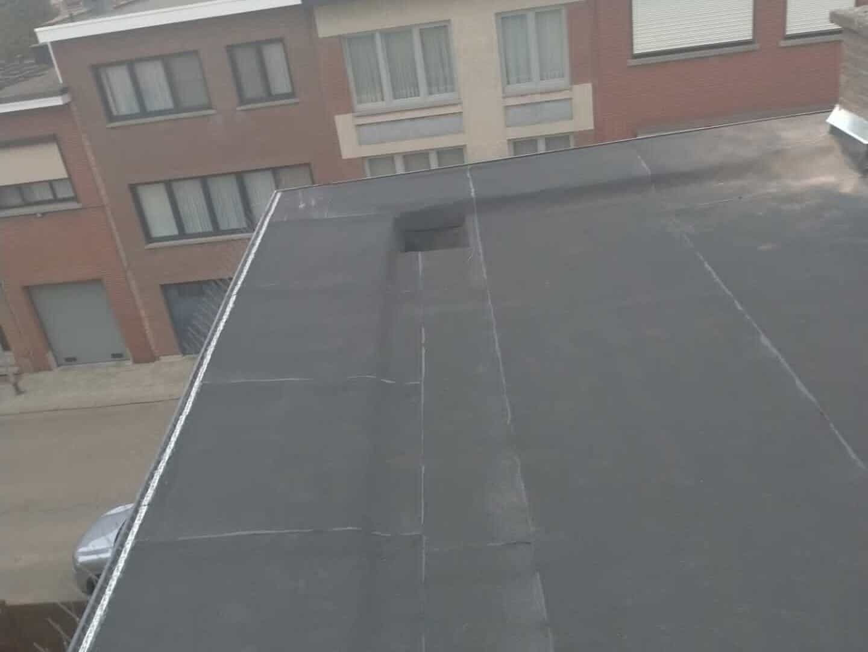 Gerenoveerd plat dak in Hoboken