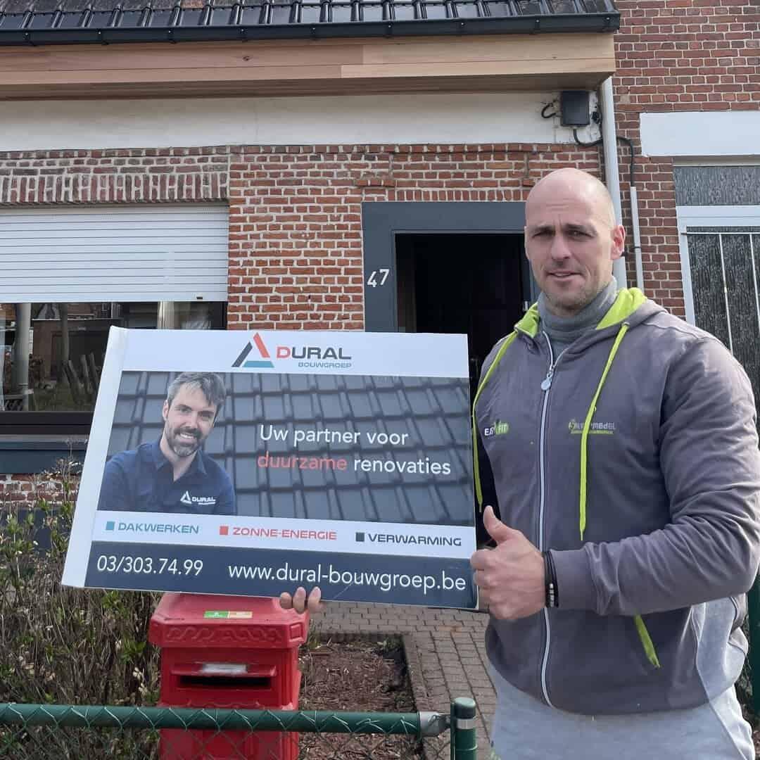 Tevreden klant renovatie hellend dak uit Wijnegem