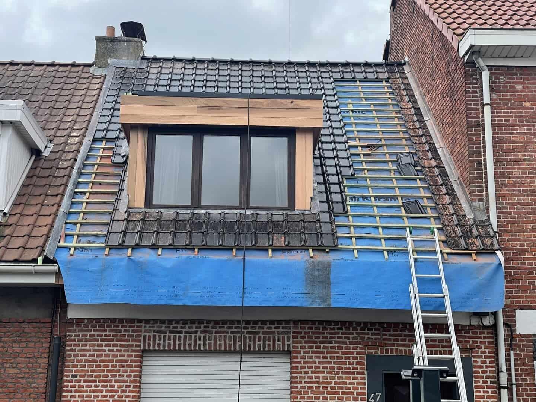 Renovatie hellend dak in Wijnegem