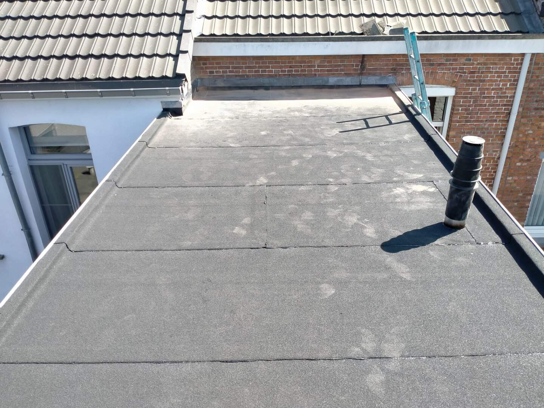 Gerenoveerd plat dak