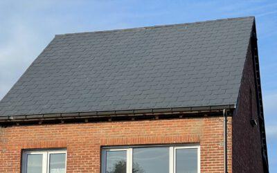 Renovatie asbesthoudend leien dak in Hulshout