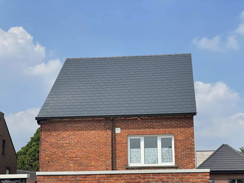 Dakrenovatie asbesthoudend leien dak in Hulshout