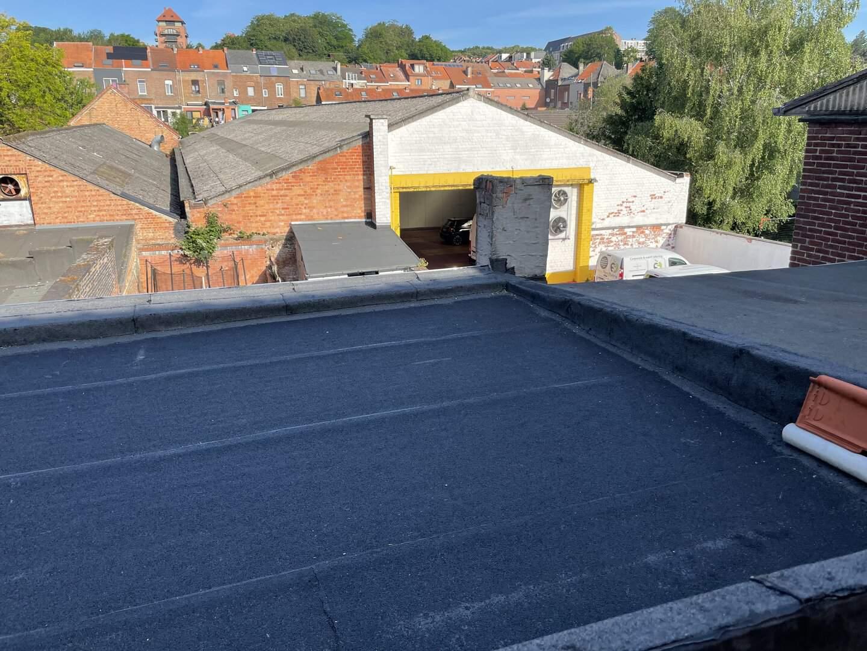Gerenoveerd plat dak in Leuven