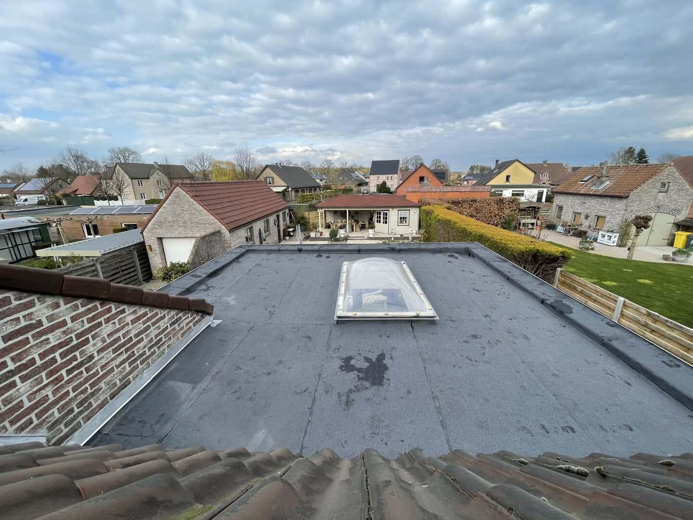 Renovatie plat dak in Lille