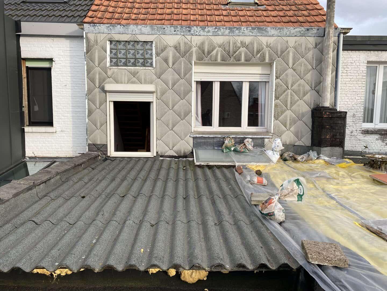 Te vervangen plat dak in Zwijndrecht